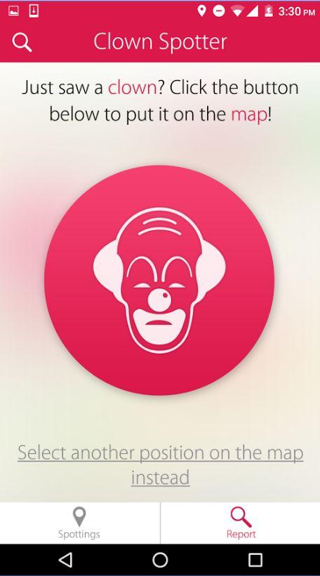 Creepy Clown-Spotting Apps
