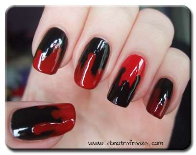 Bloody nail art creepy nail art halloween blood bloody nail art prinsesfo Choice Image