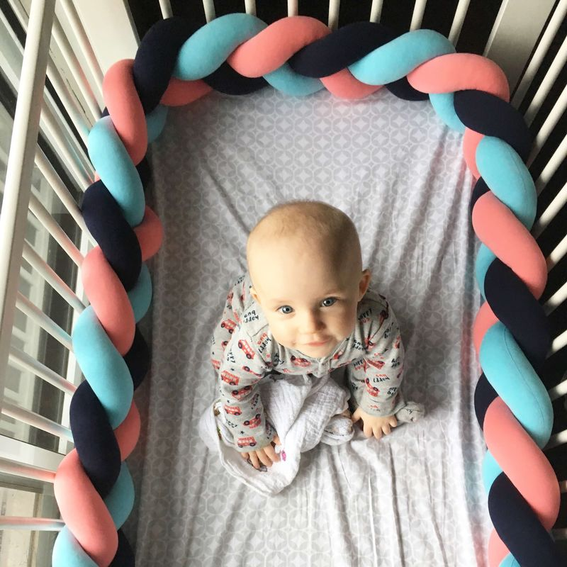Braided Baby Crib Bumpers