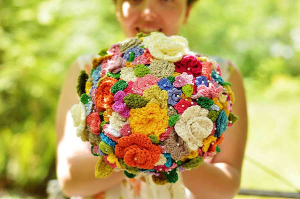 Crocheted Wedding Bouquets