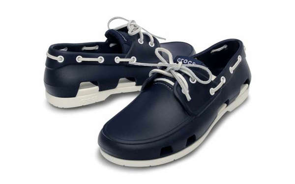 2cd3dfd9870e Waterproof Deck Footwear   Crocs Beach Line Boat Shoe