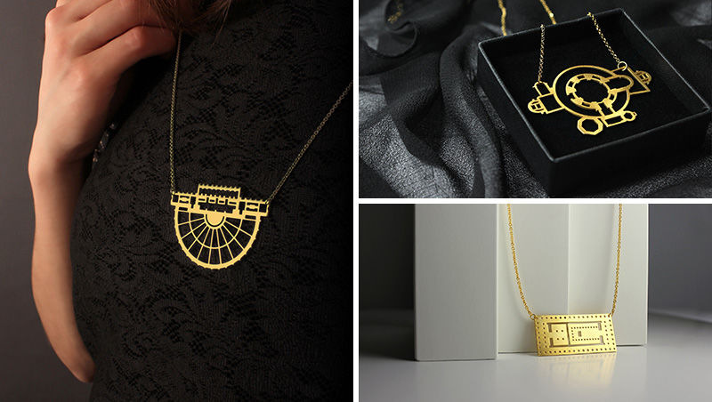 Gold Laser-Cut Jewelry