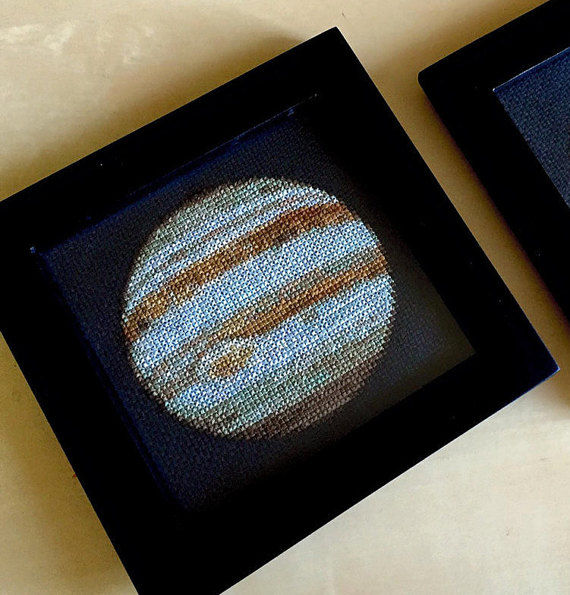 Embroidered Planetary Paintings