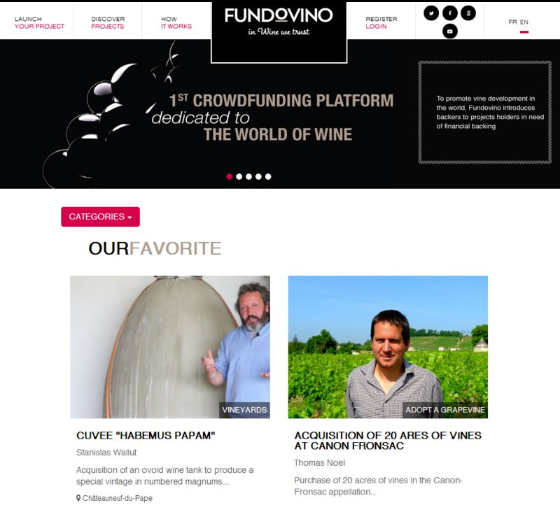 Wine-Focused Funding Platforms