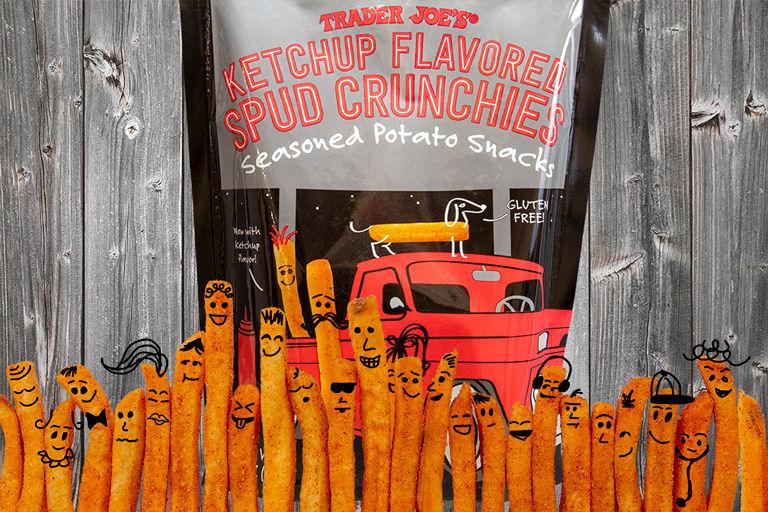 Ketchup-Flavored Potato Snacks