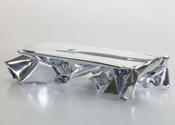 Crumpled Metal Tables