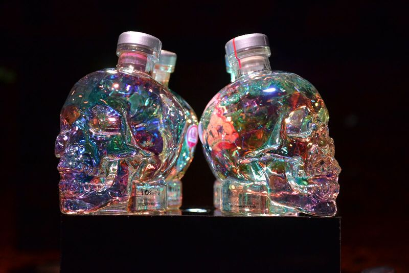 Holographic Skull Vodkas