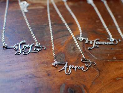 Dainty Calligraphy Necklaces