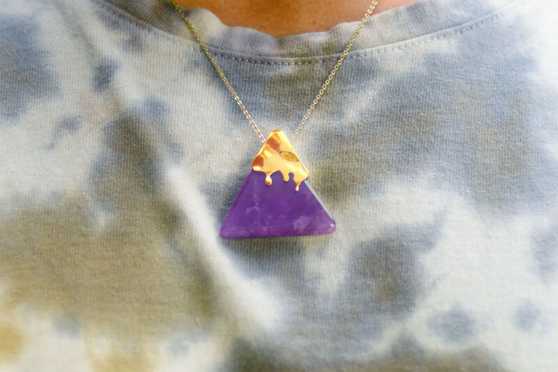 Nacho-Shaped Crystal Necklaces