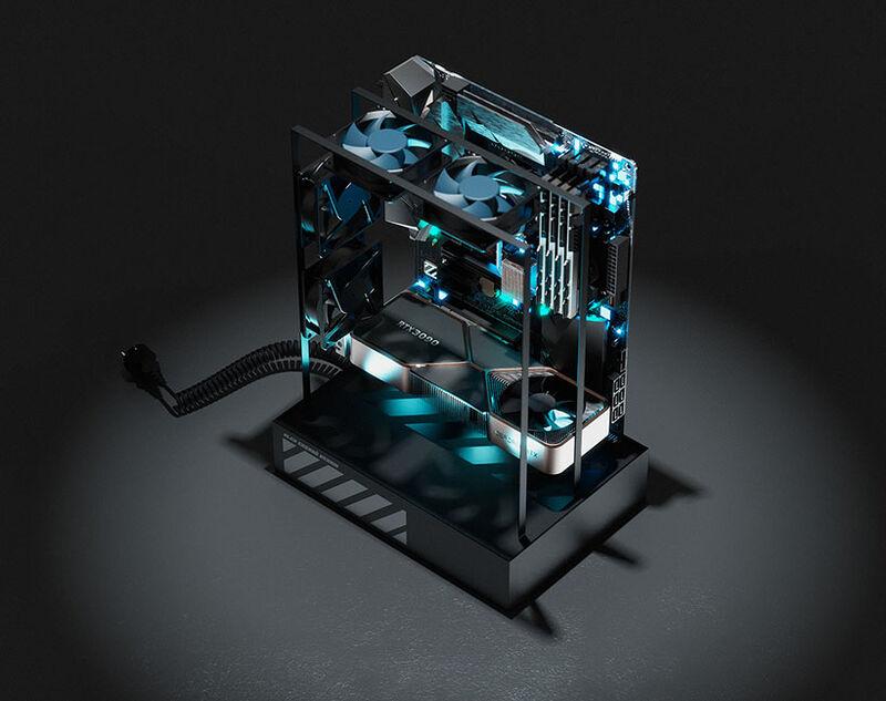 Transparent Sci-Fi PC Cases