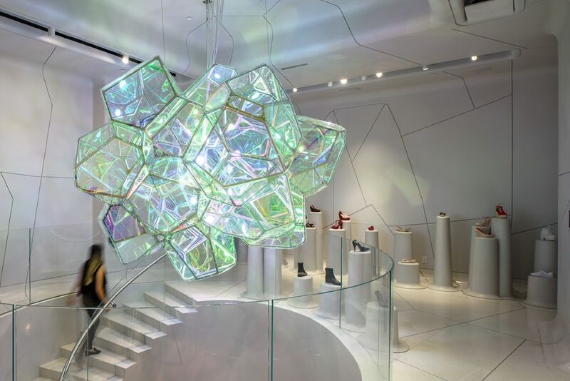 Geodesic Retail Lighting Installations