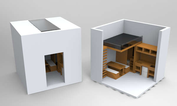 Compact Hexahedron Houses Cube Home: cube house plans