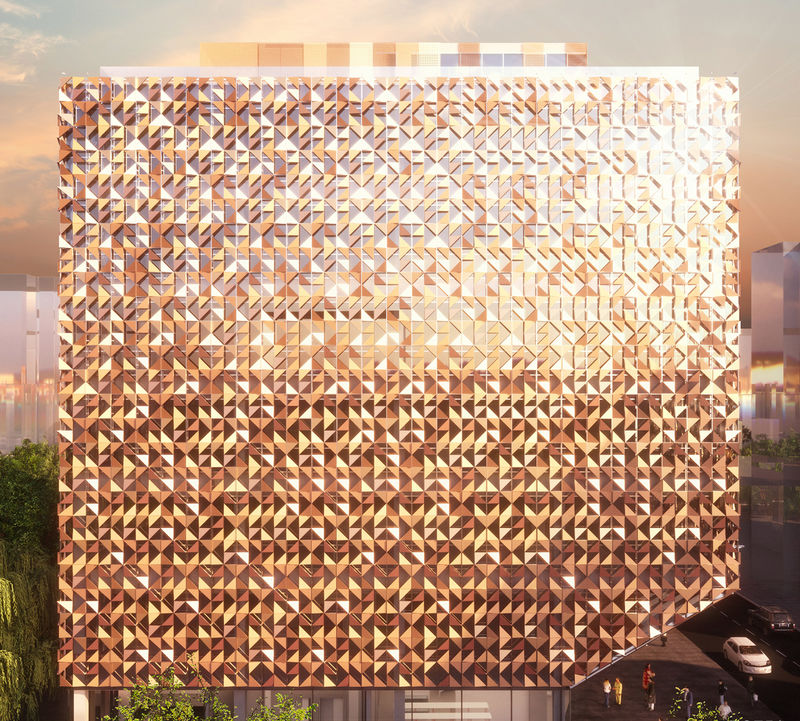 Multifunctional Golden Cubic Buildings