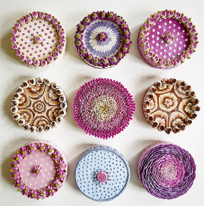 Bouquet-Themed Vegan Cakes