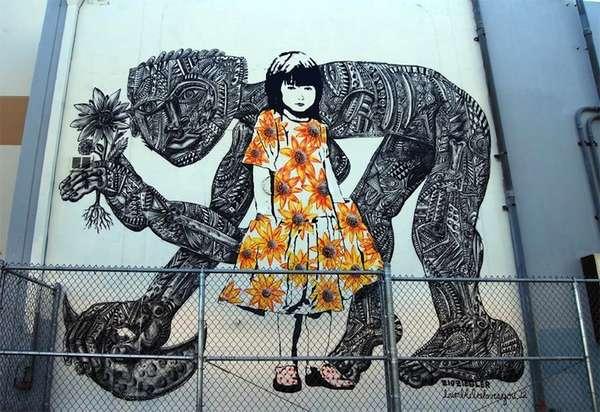 Symbolic Art-Fusion Murals
