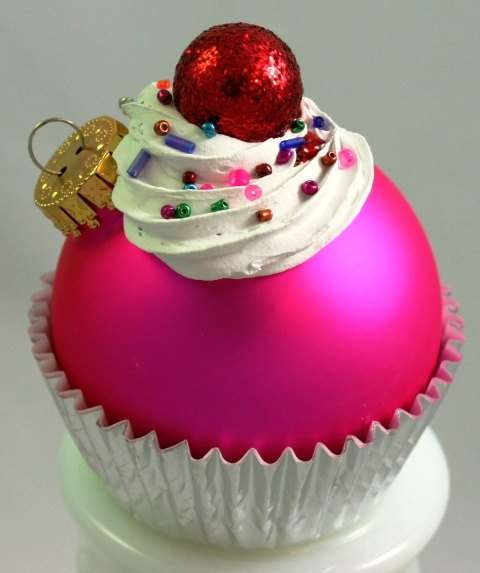 christmas cupcake liner craft ornament confectionery trimmings cupcake ornaments 6046