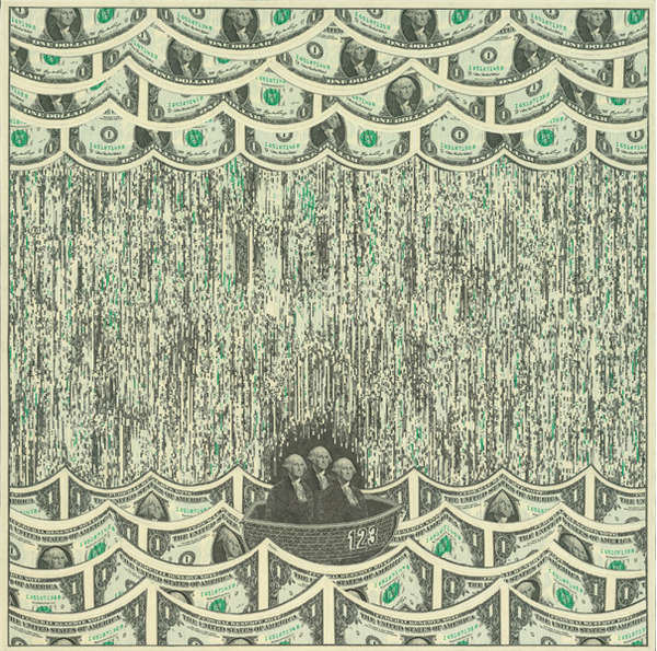 Artistic Currency Collages
