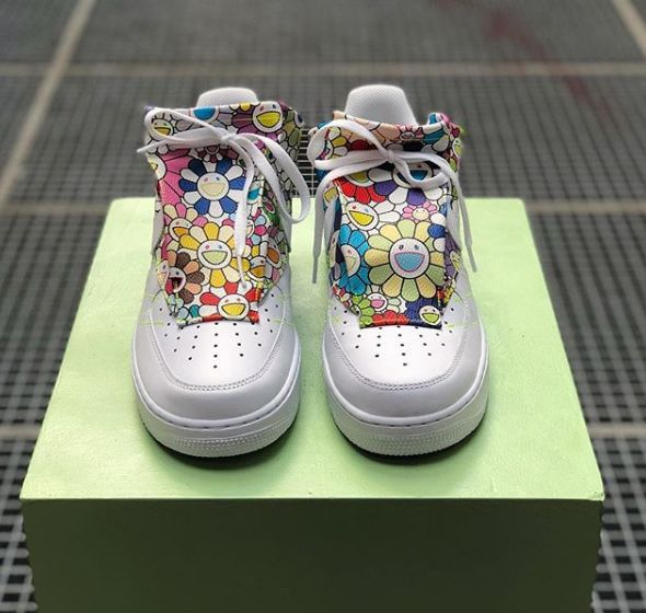 Chromatically Illustrated Shoes Custom Air Force 1s