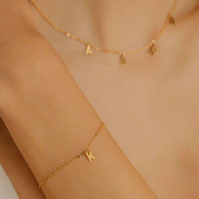 Minimalist Custom Letter Bracelets