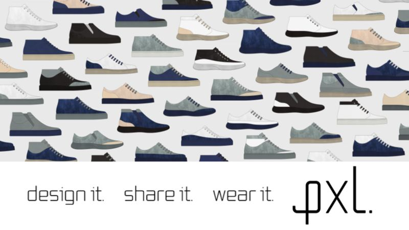 Infinitely Customizable Shoes - pxl. Lets Users Create, Share & Buy Fully Customized Footwear (TrendHunter.com)
