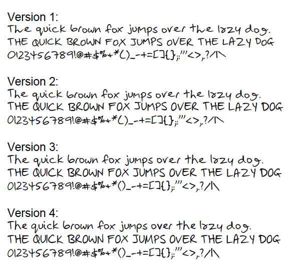 Personalized Handwriting Fonts YourFonts Free Online Service Loves