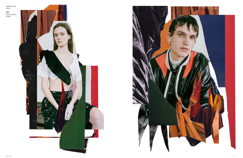 Collaged Model Portraits