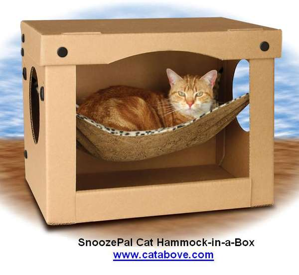 Cardboard Pet Homes The Cutting Edge SnoozePal Hammock Is Purrfect For Lazy Felines
