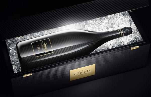 Carbon-Coated Champagne Bottles