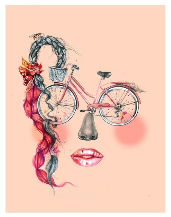 Quirky Cyclist Artwork