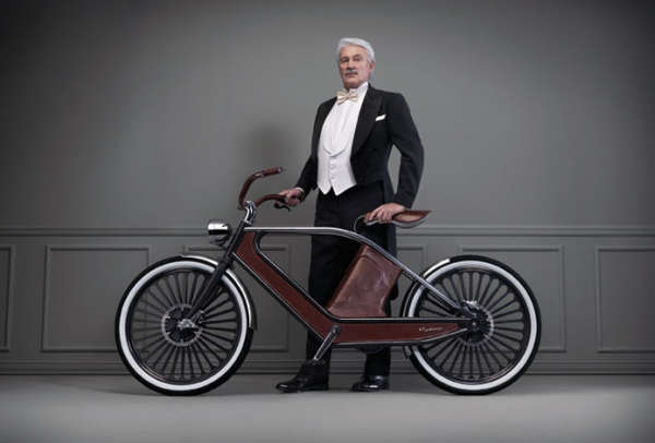 Leather-Upholstered E-Bikes