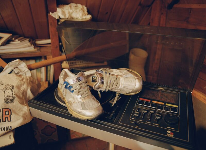 Timeless Old-School Worn-Out Sneakers