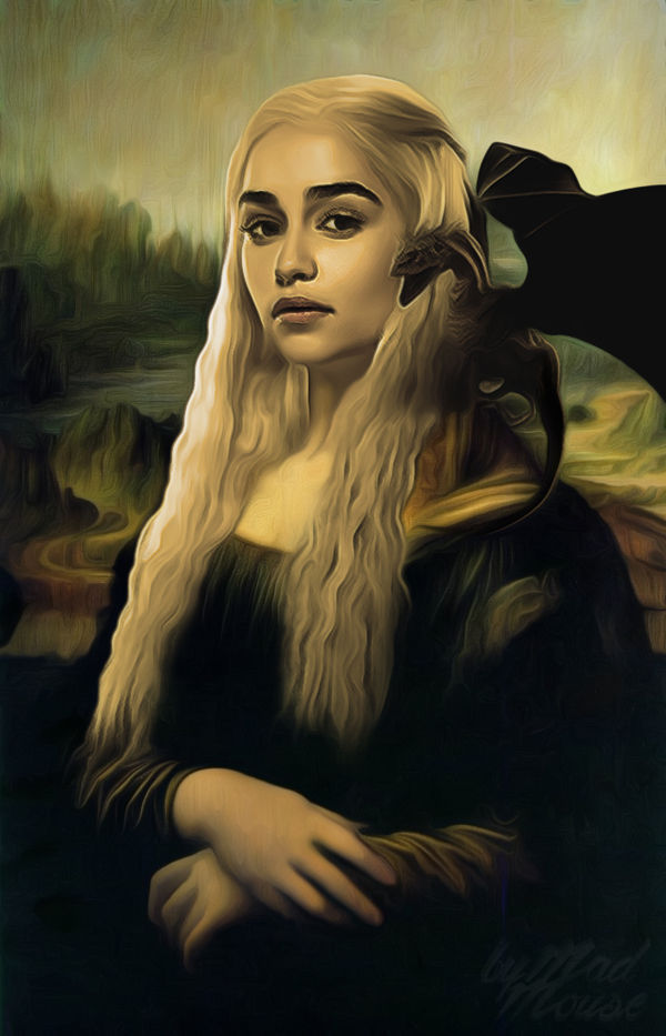 Stoic Pop Culture Masterpieces : Daenerys Targaryen fan art