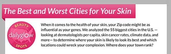Healthy Skin Infographics