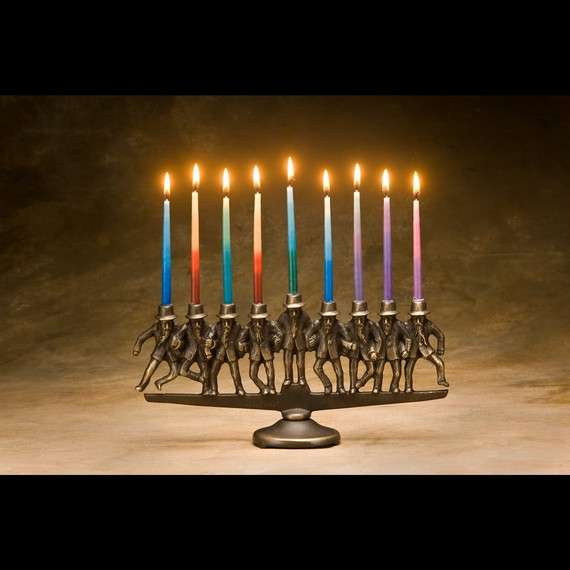 Prancing Rabbi Menorahs