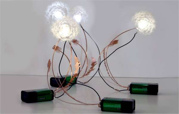 Real Dandelion Seed LED Lamp