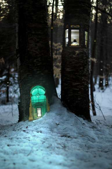 Miniature Woodland Housing