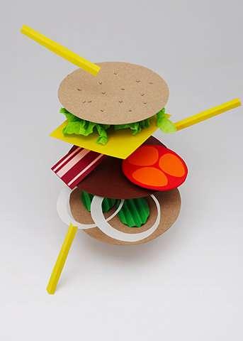 Papercraft Hamburgers