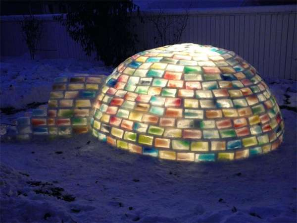 Chilly Rainbow Igloos