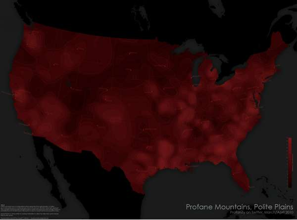 National Profanity Maps