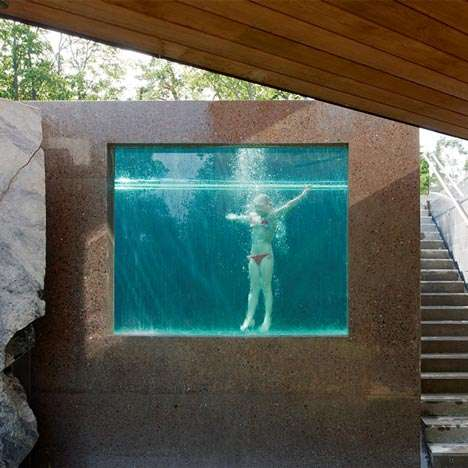 Stunning transparent pools dapstockholm pool for Acrylic windows cost
