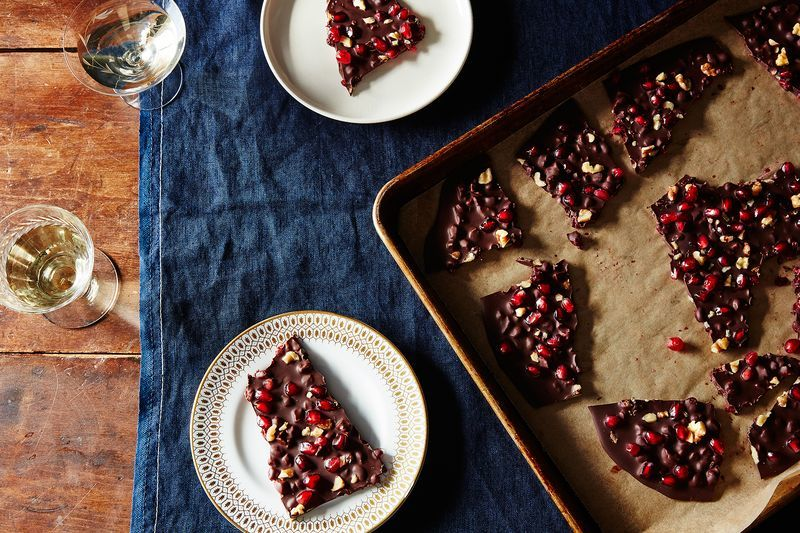 Festive Pomegranate-Infused Chocolates