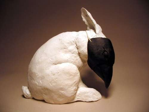 Masked Bunny Sculptures