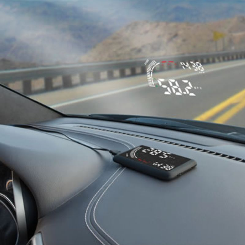 Distraction-Deterring Dashboard Projectors