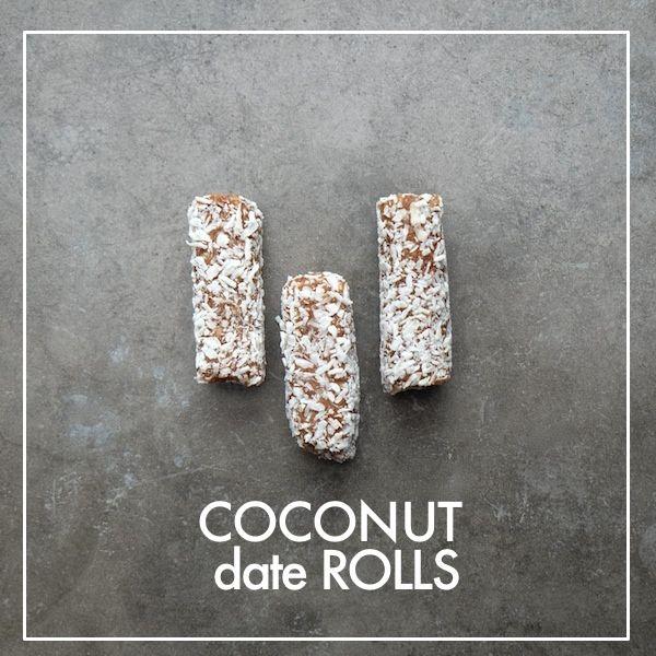 Coconut Date Rolls