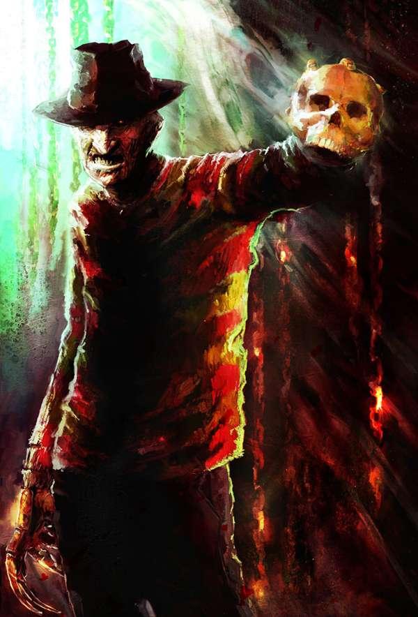 Frightful Film Antagonist Art