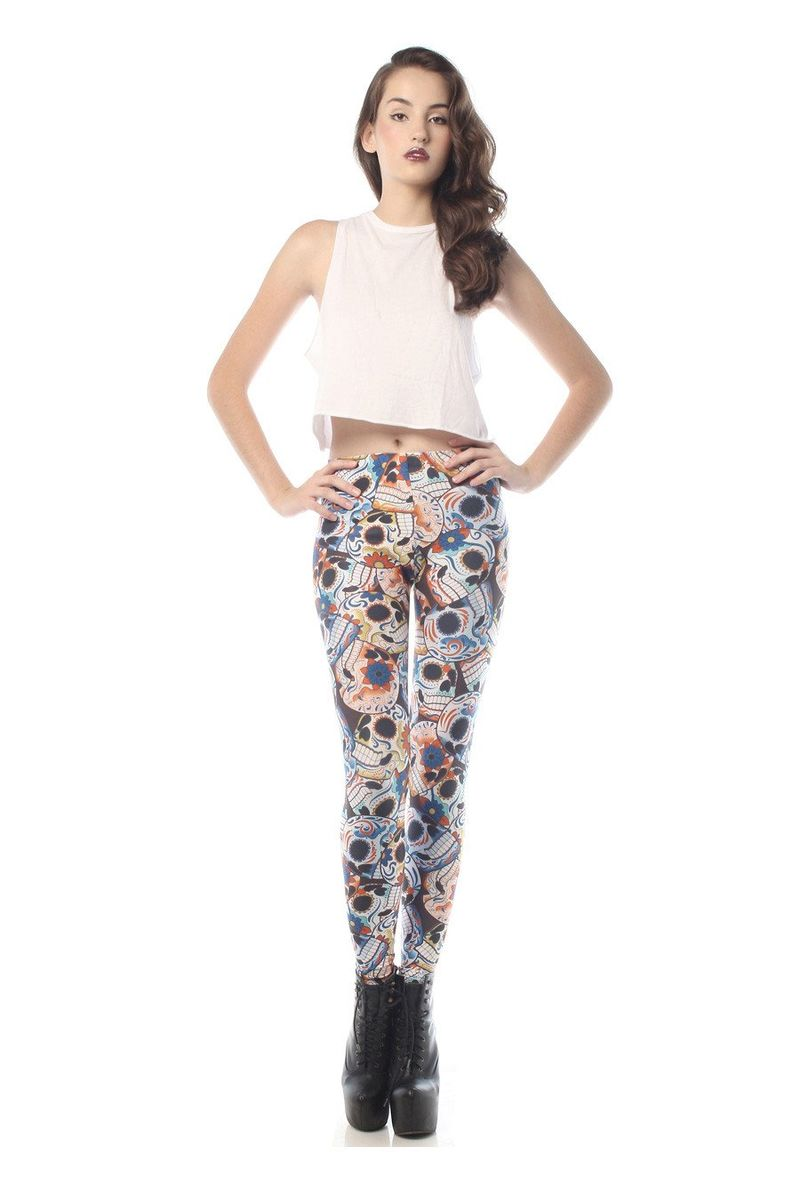 Chic Sugar Skull Pants