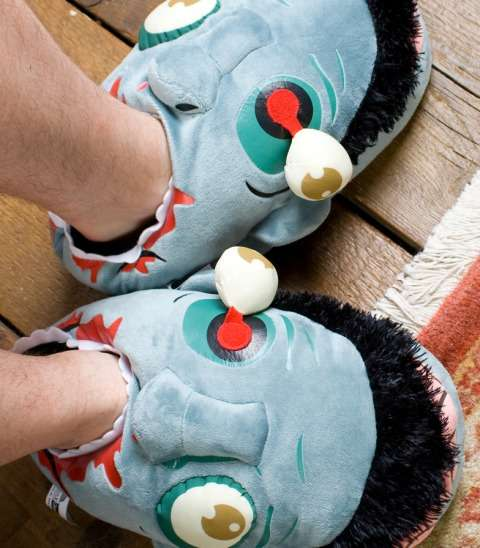 Eerie Zombie Head Slippers