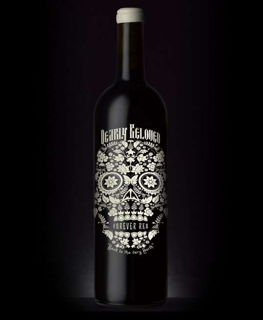 Blooming Skull Booze Packaging