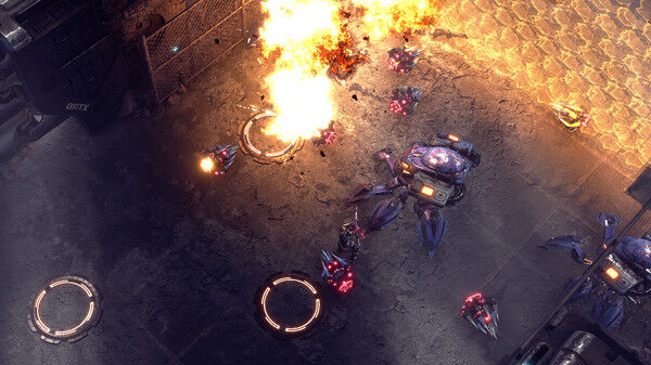 Futuristic Top-Down Shooter Games