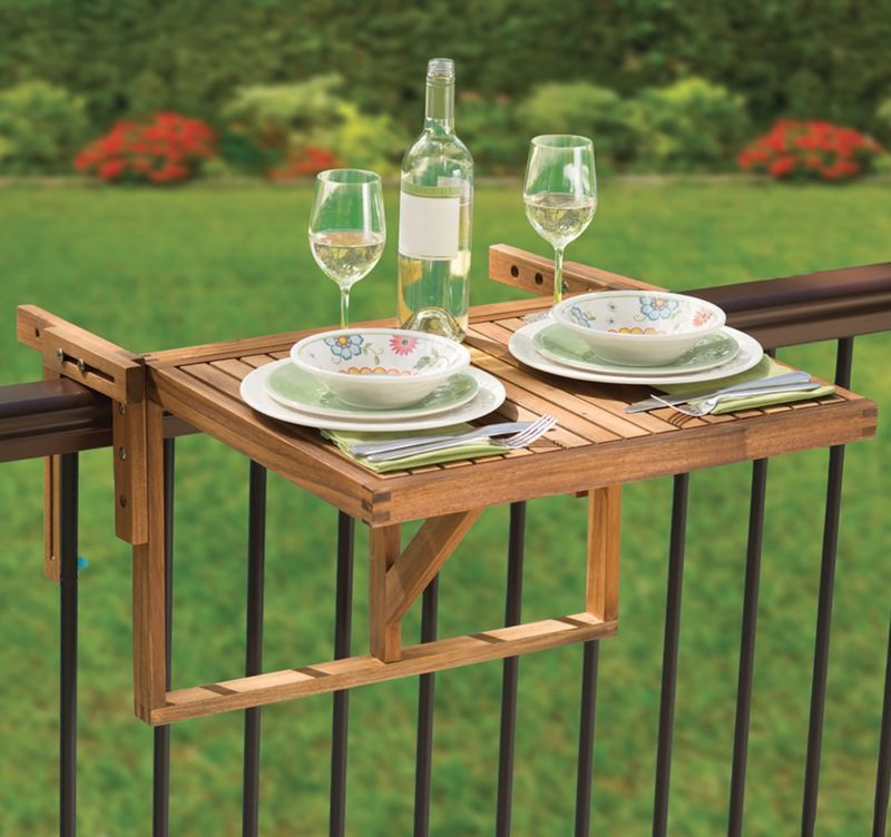 Balcony Railing Tables